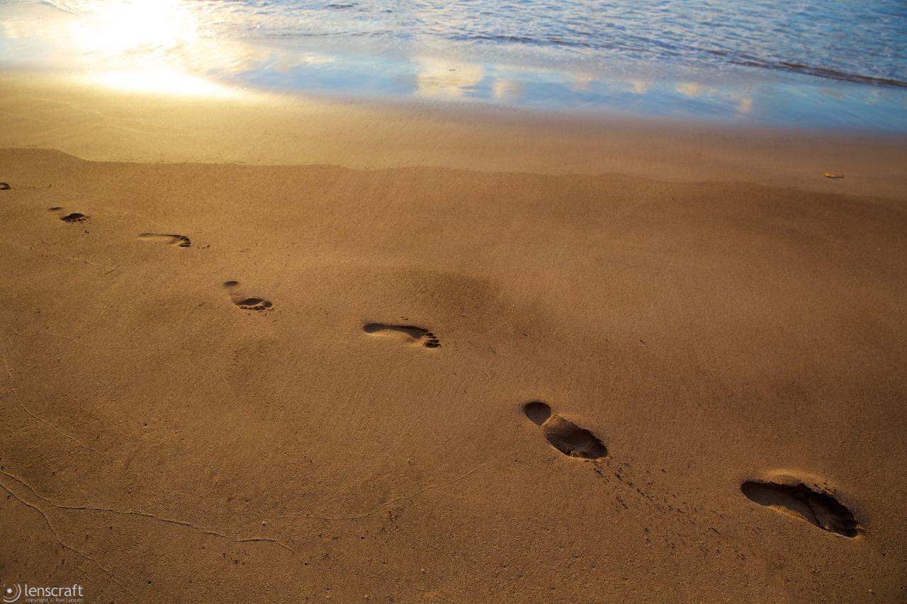 one set of footsteps / hana, hawaii