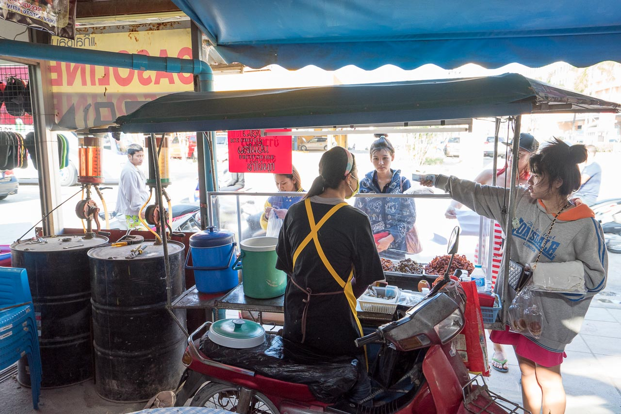 mobile food stand / patong, thailand