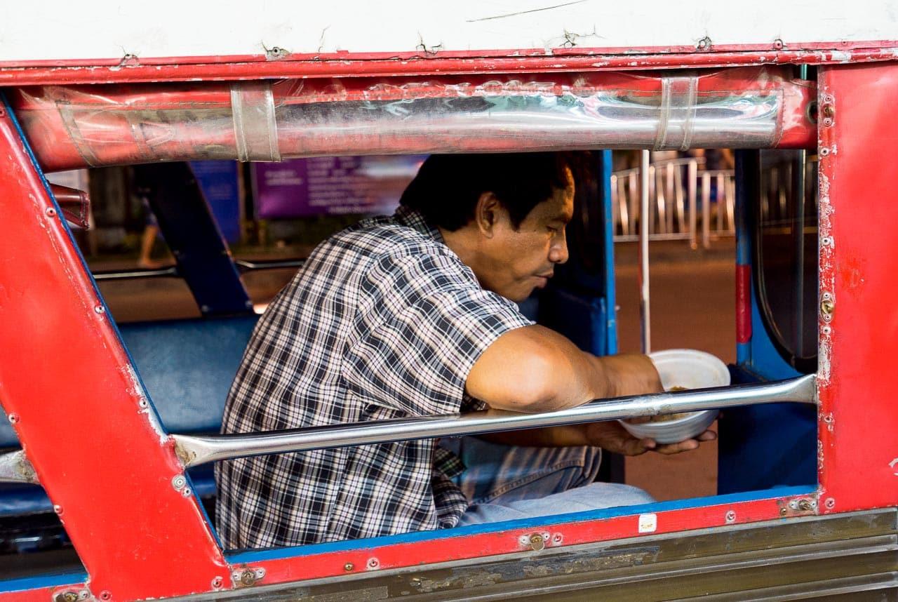tuktuk driver's dinner / patong, thailand