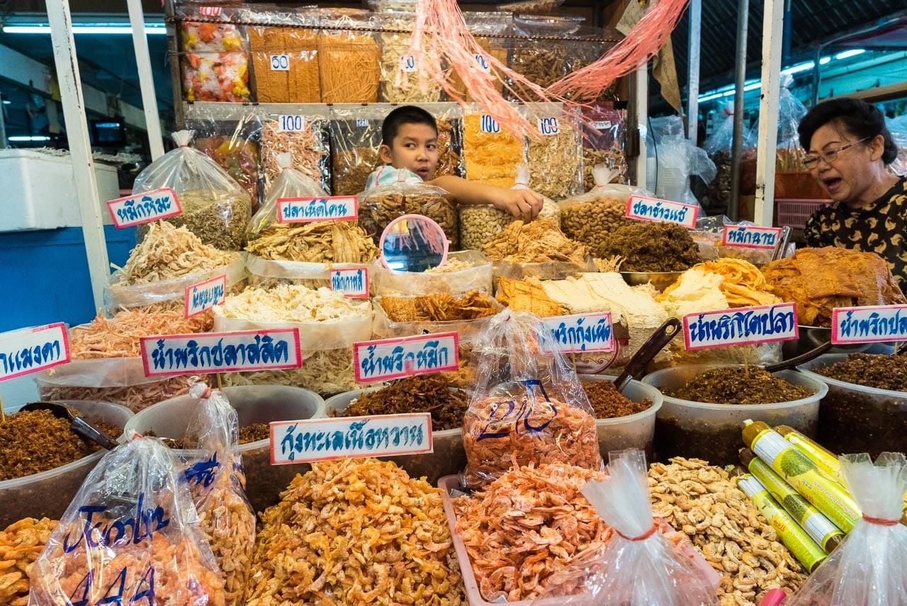 dried fish / hua hin, thailand