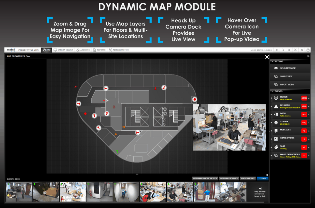 Perspective VMS™ Dynamic Maps Features