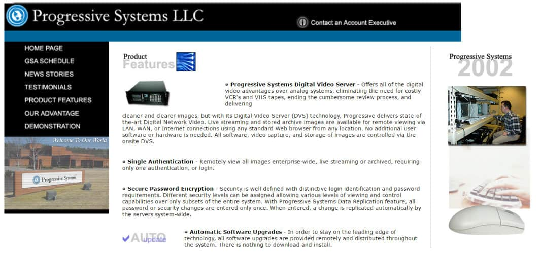 Progressive Systems Website 2002