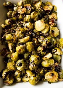 roasted brussels sprouts with balsamic reduction