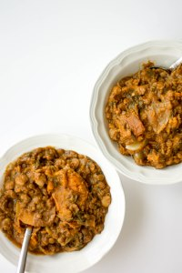 moroccan crockpot lentil stew