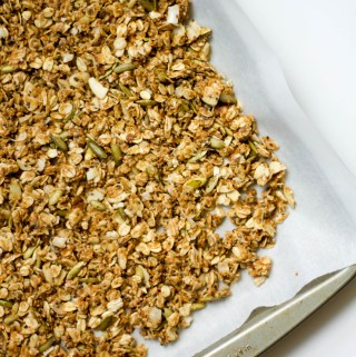 hot 'n spicy coconut granola, weddings, & Fancy Food