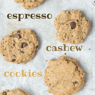 espresso cashew cookies