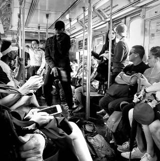 dancer on the subway