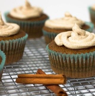 Dirty Chai Cupcakes with Cinnamon Ginger Buttercream {GF, DF-option}