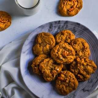caramel pretzel cookies