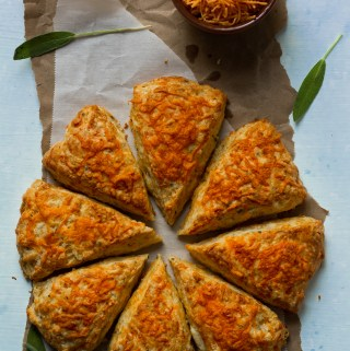 cheddar cheese and sage scones