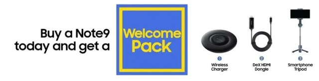 Samsung Galaxy Note 9 Welcome Pack