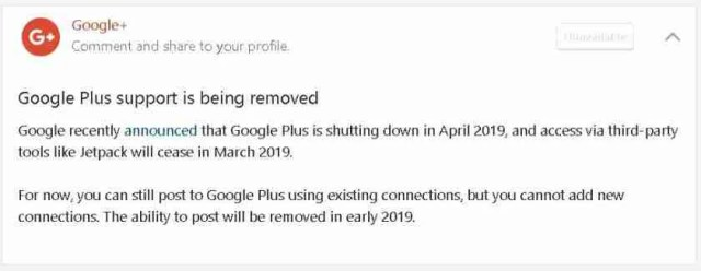 Troubled Google+ Closing Down On 2 April 2019 2