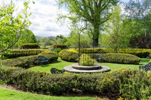 Sunken Garden with central fountain and yew hedges