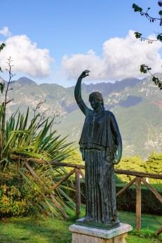 Villa Cimbrone Rose Garden statue