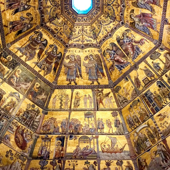 The stunning Interior cupola mosaics of the Baptistry