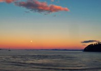 sun set with the moon