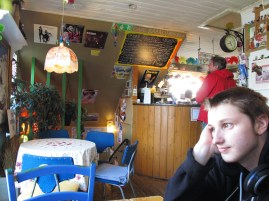 inside of Babalu Cafe
