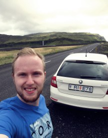 me in front of the Eyjafjallajökull