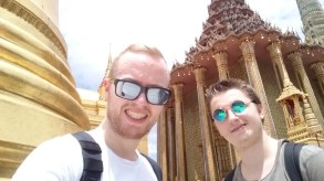 us at the wat pho temple