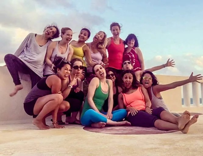 A Cancún yoga retreat brought all of these amazing women together.