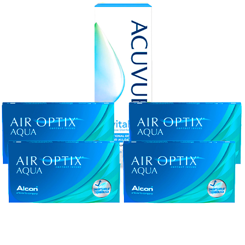 air optix aqua, aylık lens