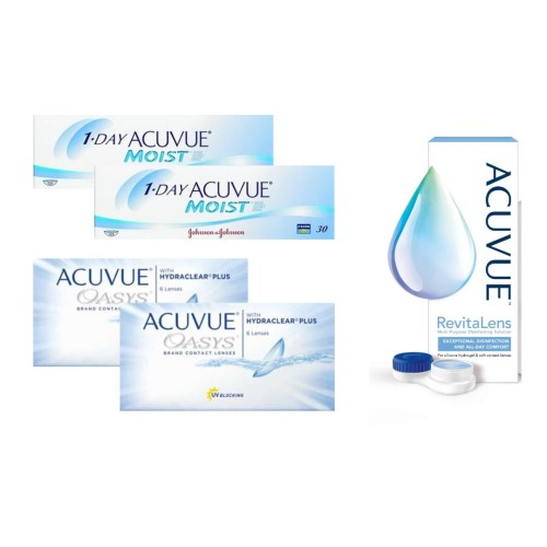 acuvue oasys + 1 day acuvue moist