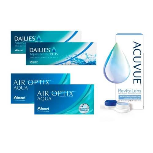 air optix aqua + dailies aqua comfort