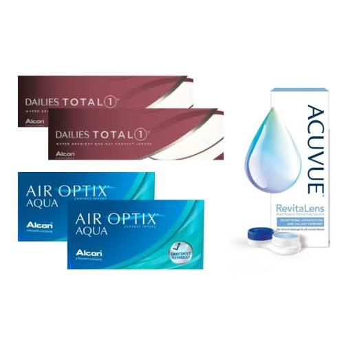 air optix aqua + dailies total 1