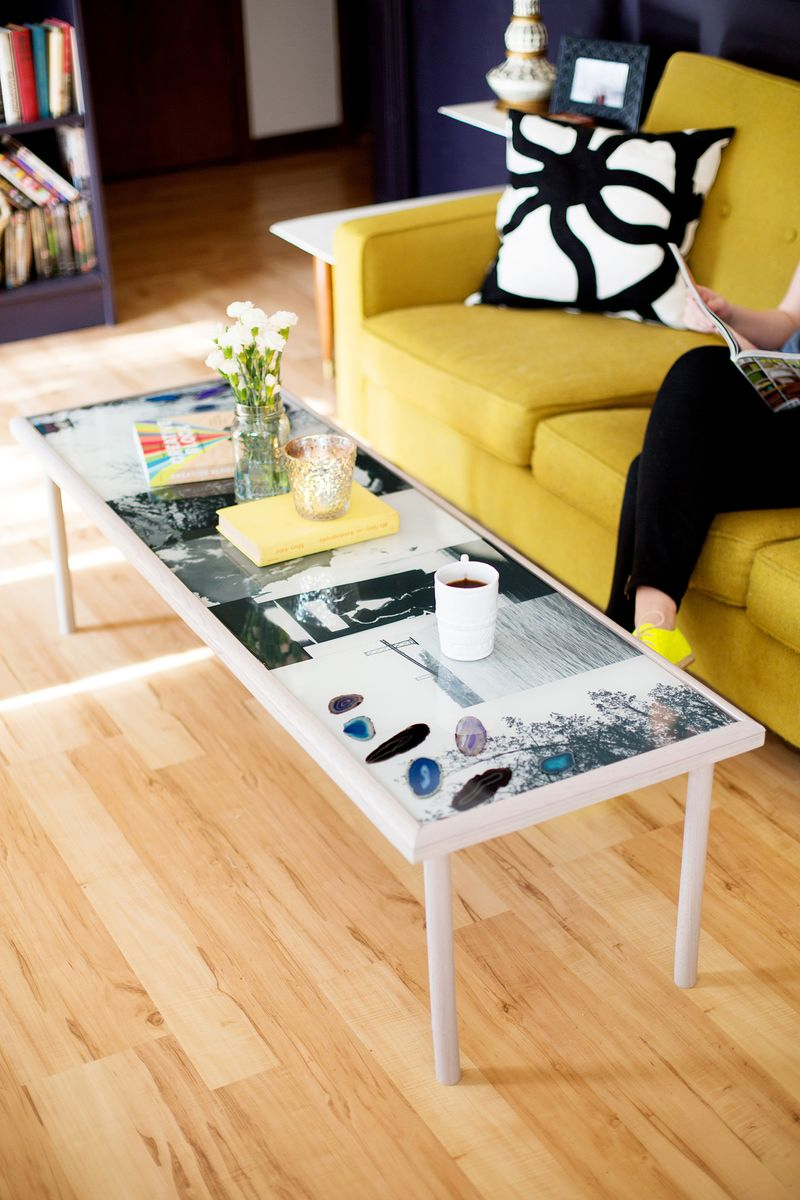 How To Create A DIY Epoxy Resin Photo Coffee Table