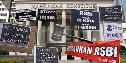 penghapusan Rintisan Sekolah Sekolah Bertaraf Internasional (RSBI)