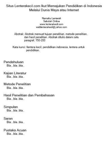 Ilustrasi bentuk jurnal pendidikan