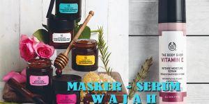 masker dan serum wajah
