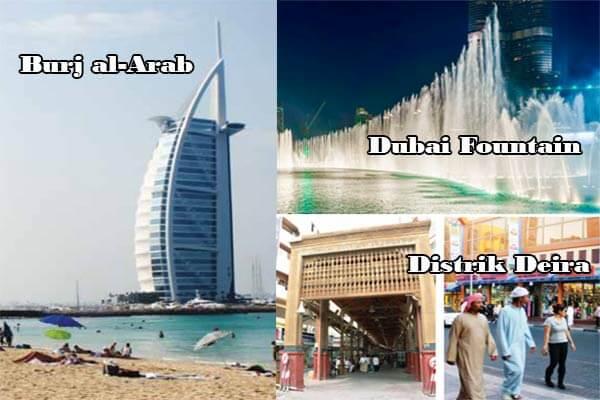 Burj al-Arab-Dubai Fountain-Distrik Deira