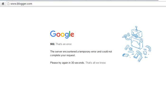 blogspot kode error 502