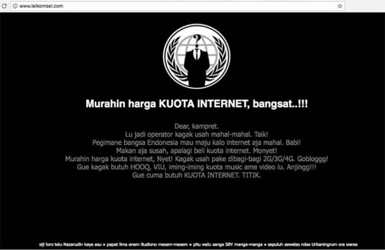 Situs Telkomsel Diretas Hacker