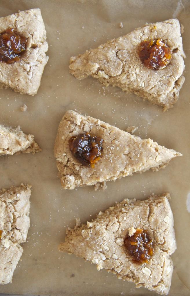 Almond Butter + Marmalade Scones