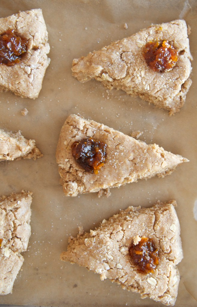 Almond Butter + Marmalade Scones