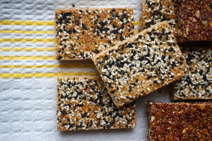 Crispy Cashew-Sesame Bars