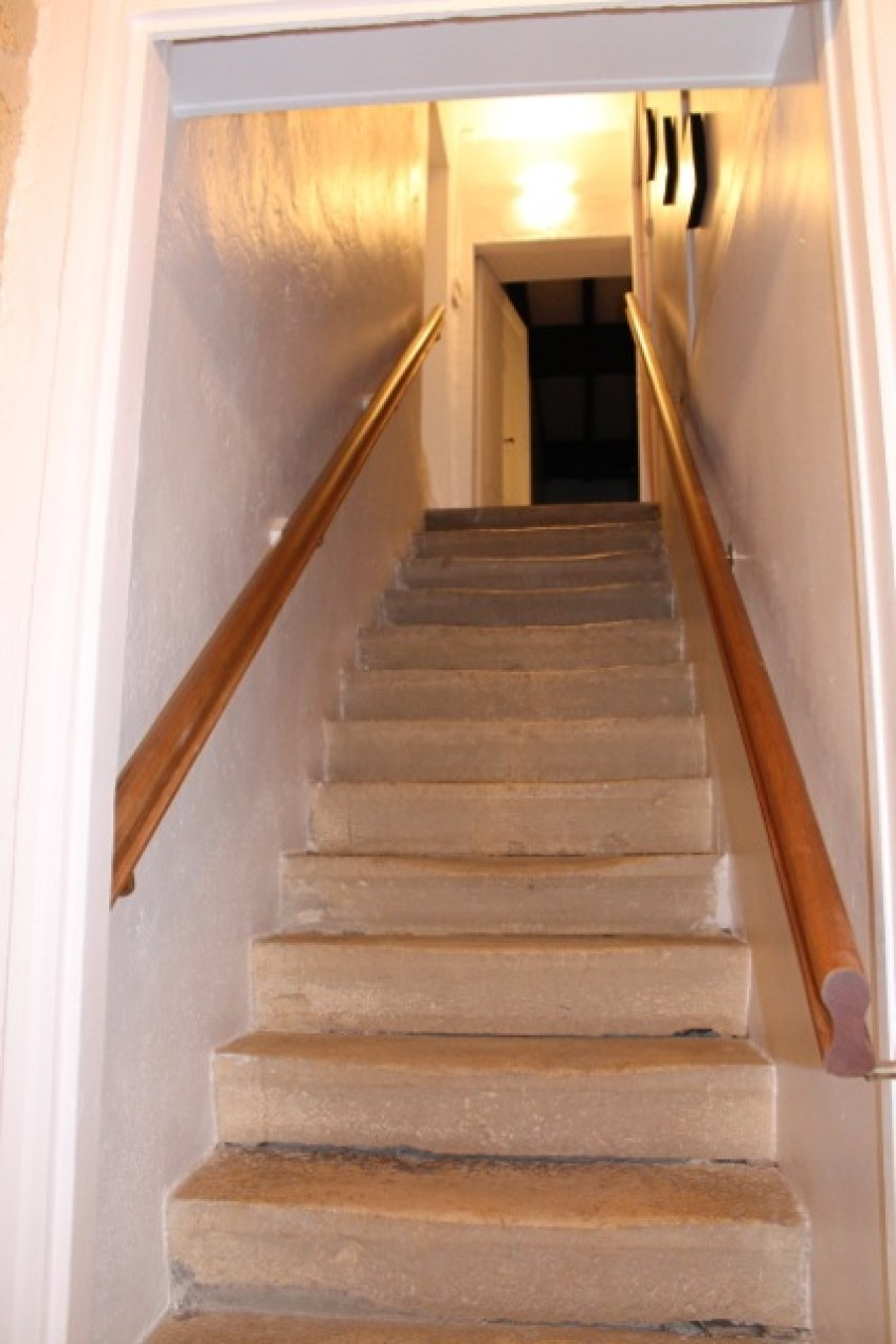 Gîte l'Entre Deux : accès à l'étage