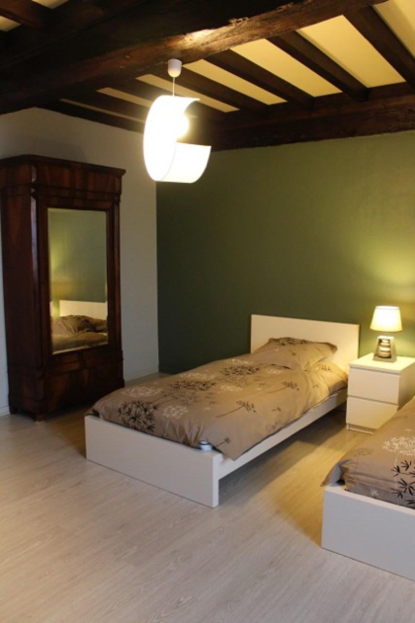 Gîte l'Entre Deux : la chambre Vert