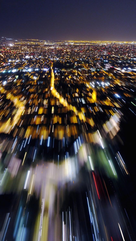 Volando por Santiago de Noche
