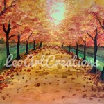 Landscape Country Road Leo Art Creations