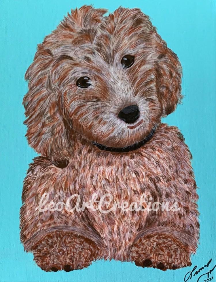 Lucy Pet Portrait, Leo Art Creations