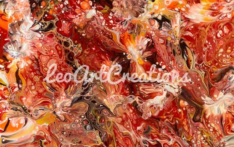 Abstract Kisses Leo Art Creations