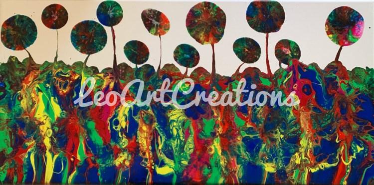 Abstract Lollipop Garden Leo Art Creations