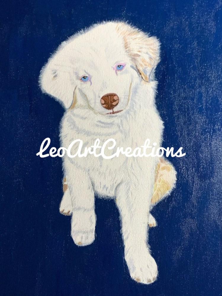 Luna the Dog Leo Art Creations