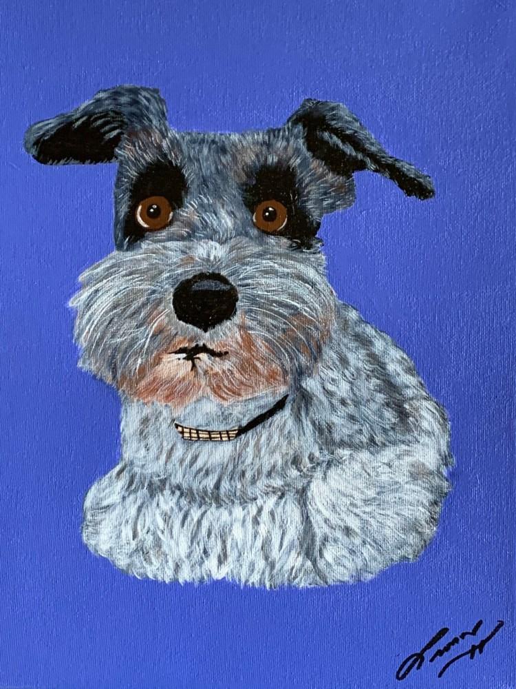 Lady Patches Pet Portrait by Leo Art Creations