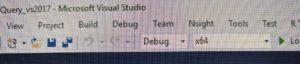 Visual Studio 2017 - toolbar