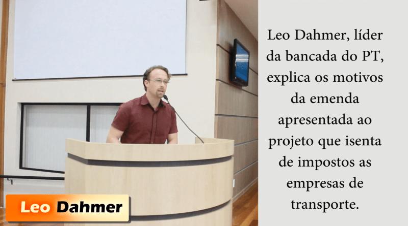 Sobre a aprovação da renúncia fiscal para as empresas de transporte de Esteio