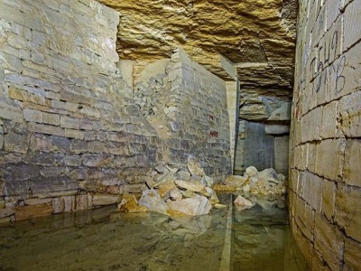 odessa catacombs tunnels with water